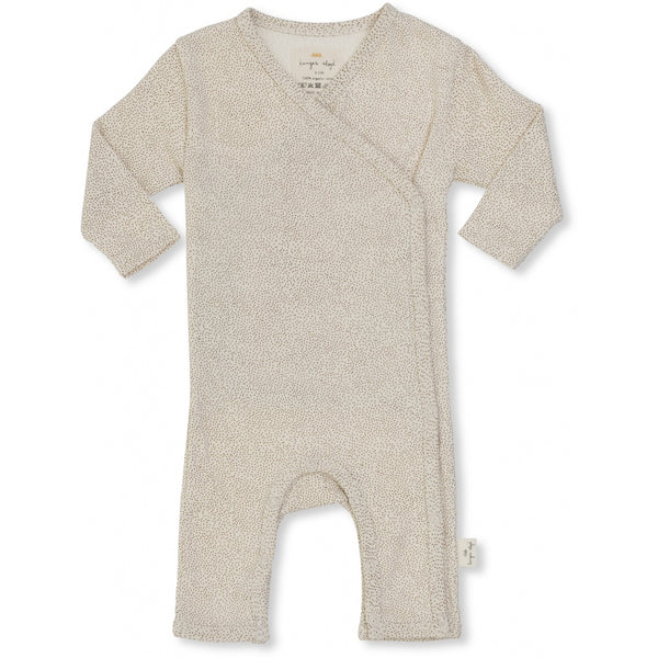 Organic Cotton Newborn Onesie - Caramel Mini Dots