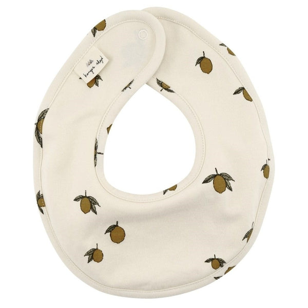 Konges Slojd Organic Cotton Newborn Bib Lemon