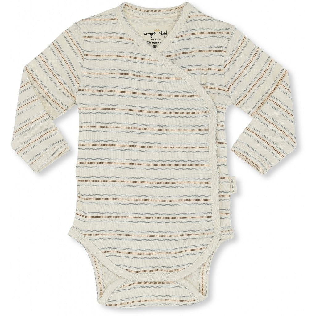 Konges Slojd Organic Cotton Newborn Body Vintage Stripe