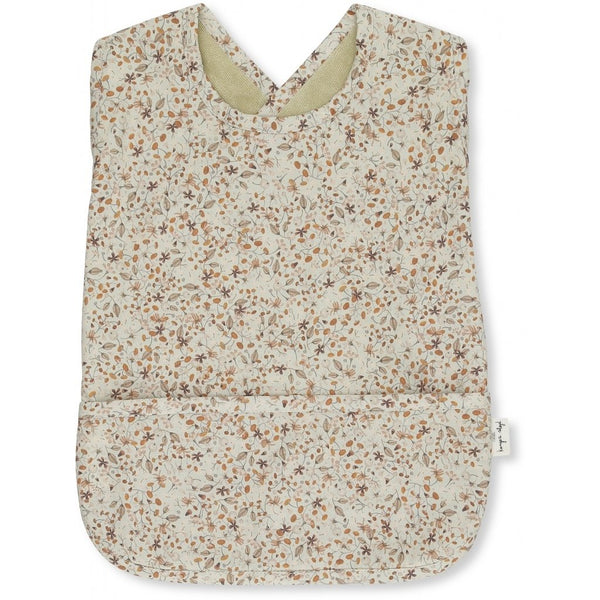 Konges Slojd Organic Cotton Toddler Bib Flower Field