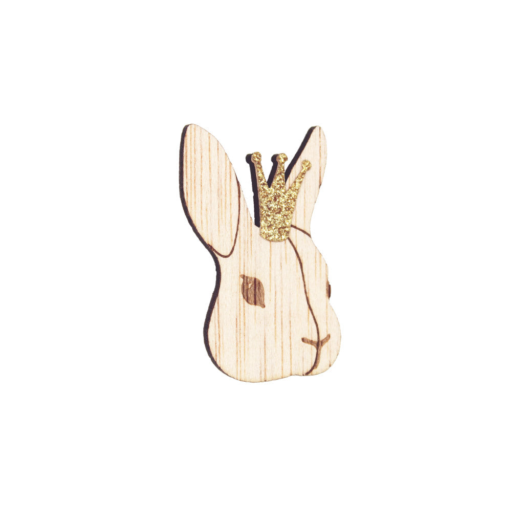 La Cabane de Bois Lili the Rabbit Brooch Crown