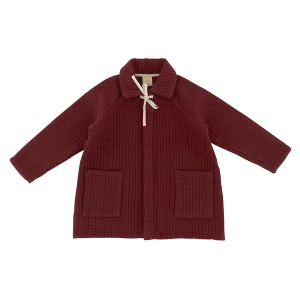 Women's Quilted Coat - Berry Red