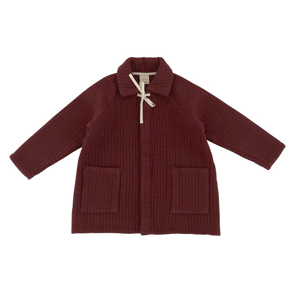 LiiLU Quilted Coat - Berry Red