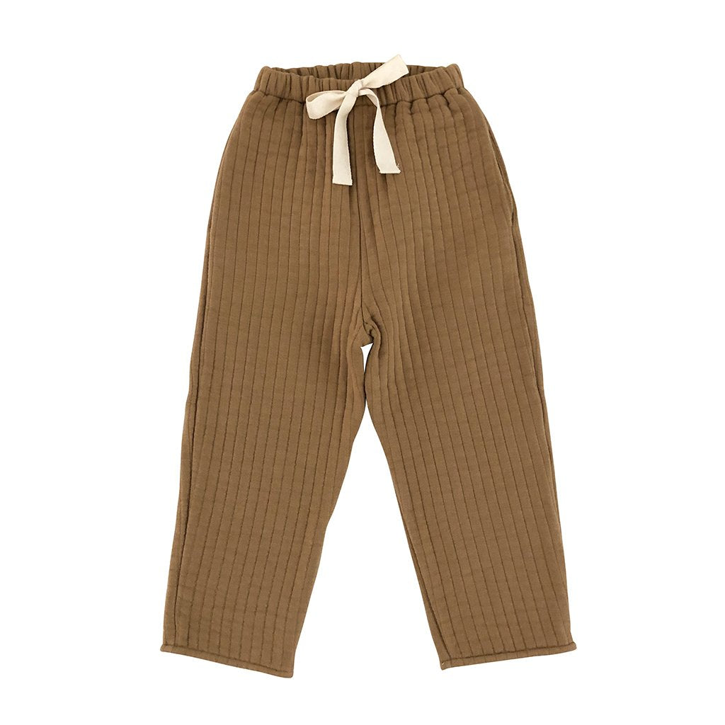LiiLU Quilted Pants - Camel