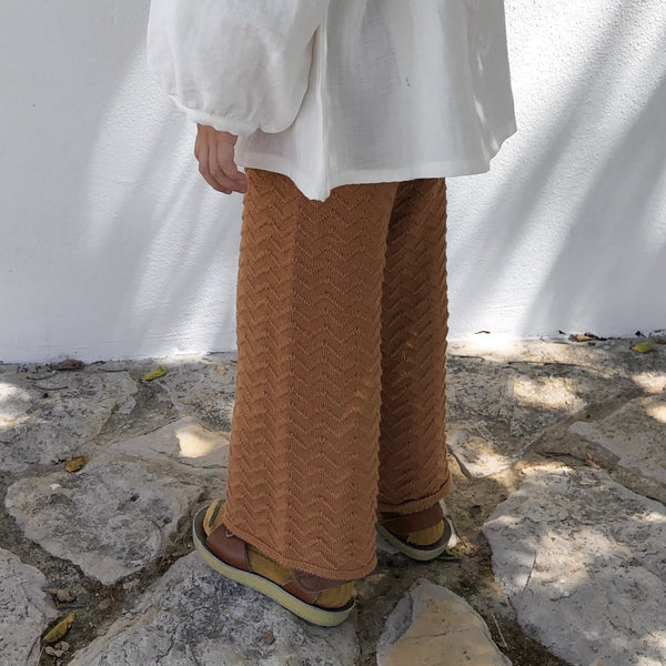 Liilu Knit pants - Terracotta