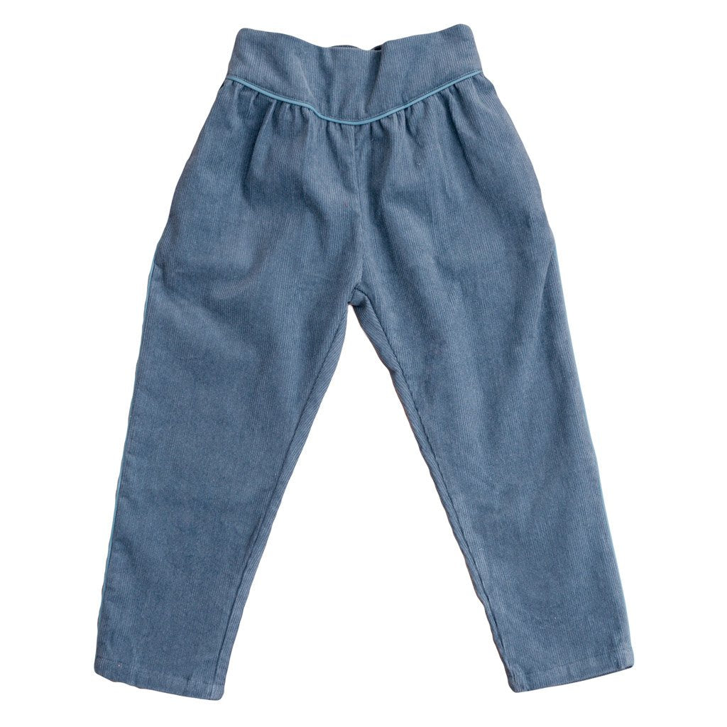 Little Cotton Clothes Aria trousers - blue corduroy