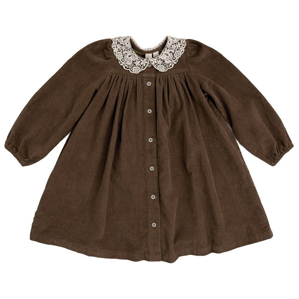 Little Cotton Clothes Delia dress - nut brown velvet