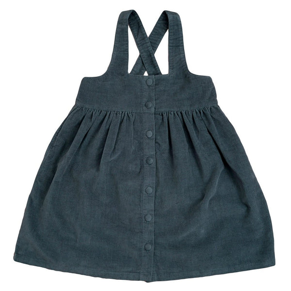 Little Cotton Clothes Dorcas pinafore - blue velvet