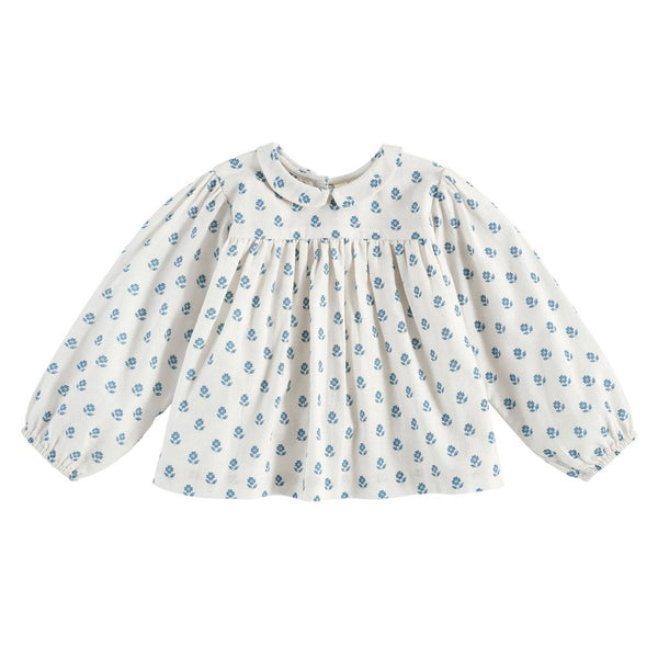 Little Cotton Clothes Emma blouse - upsy daisy floral off white