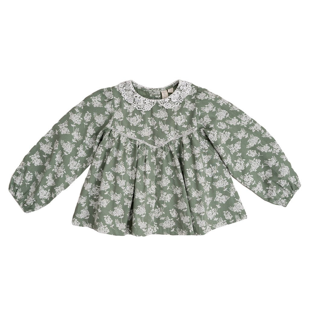 Little Cotton Clothes Marcie blouse - Hydrangea floral