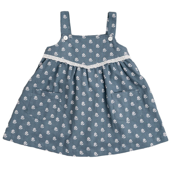 Little Cotton Clothes Tabitha pinafore - upsy daisy floral