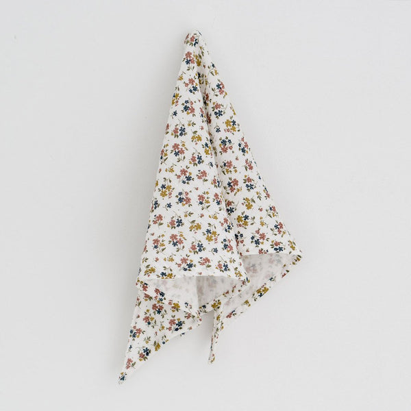 Little Cotton Clothes Triangle scarf - muslin aster floral