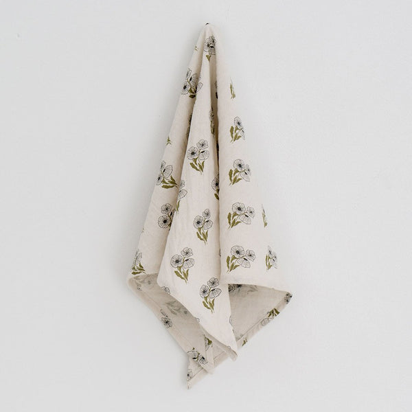 Little Cotton Clothes Triangle scarf - poppy floral