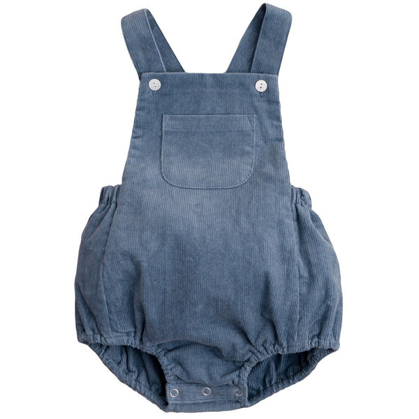 Little Cotton Clothes Whitby romper - blue corduroy