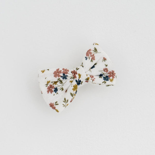 Little Cotton Clothes Small hair bow - muslin aster floral