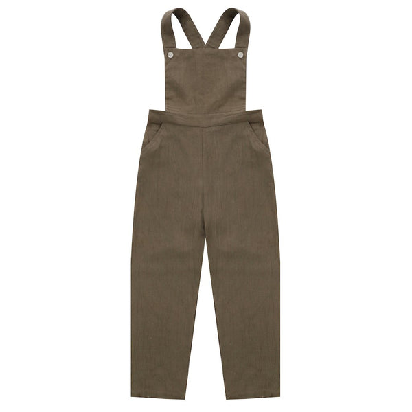 Little Cotton Clothes Bernie Dungarees - Cinder