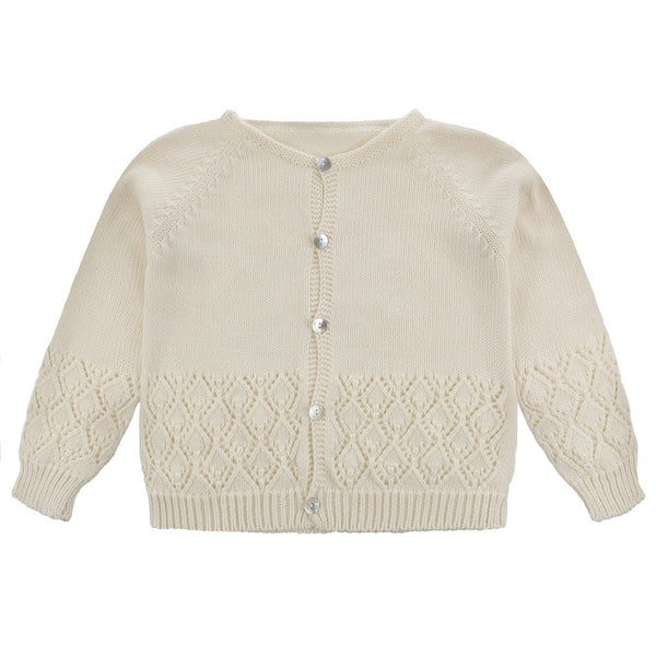 Little Cotton Clothes Ottilie Cardigan - Buttermilk