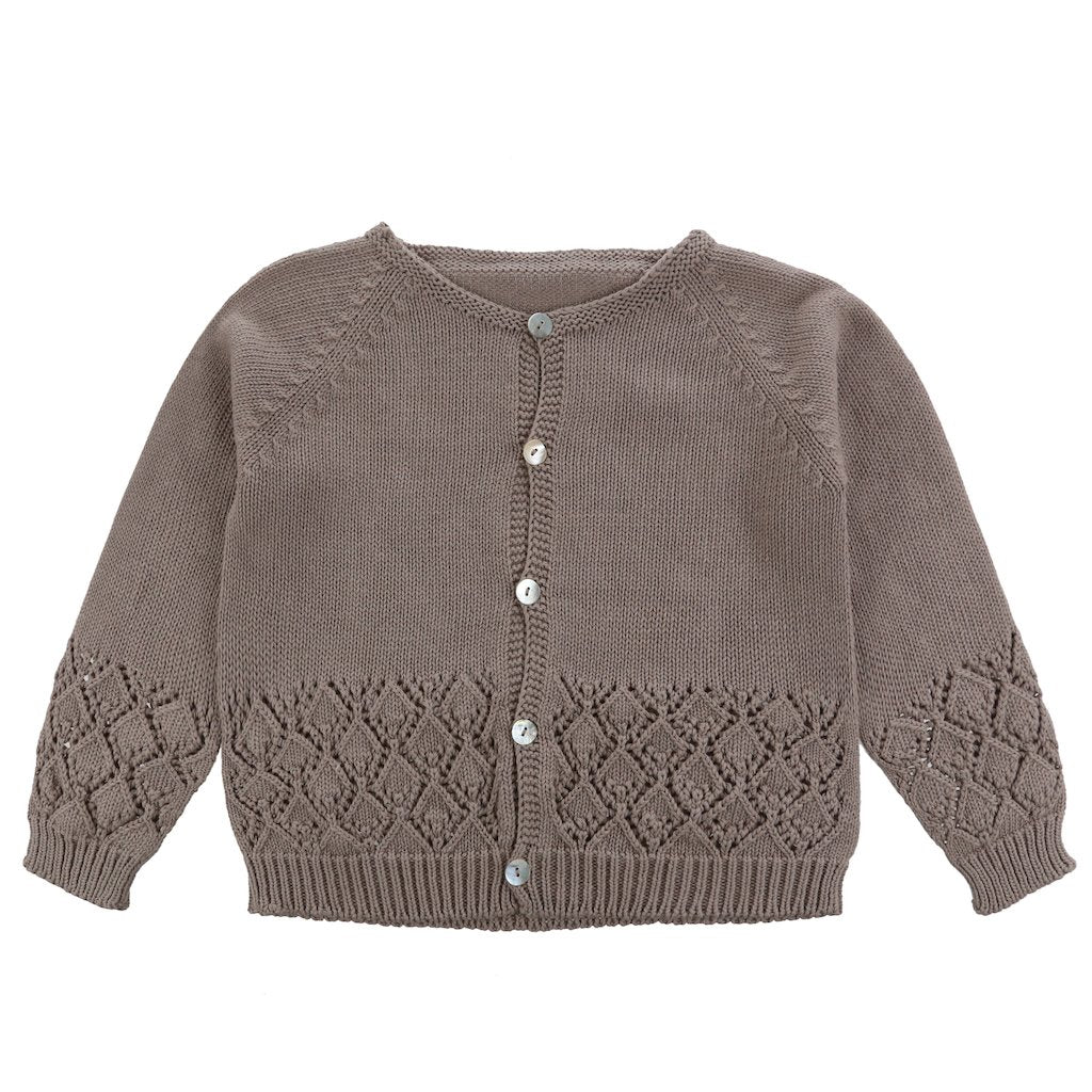 Little Cotton Clothes Ottilie Cardigan - Fawn