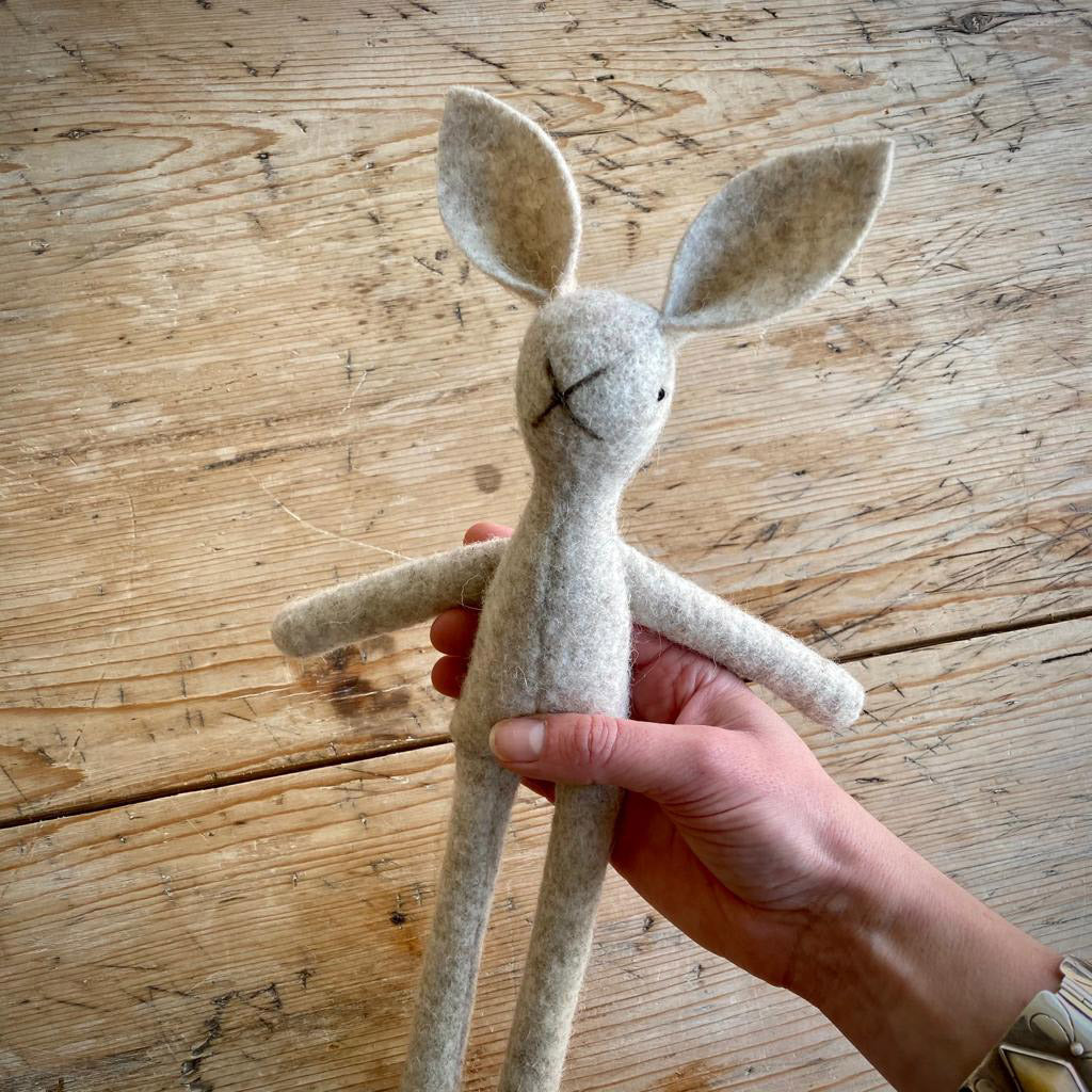 MIMS Heritage Natural Wool Bunny