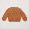 Hand Knit Merino Popcorn Sweater - Rose Gold
