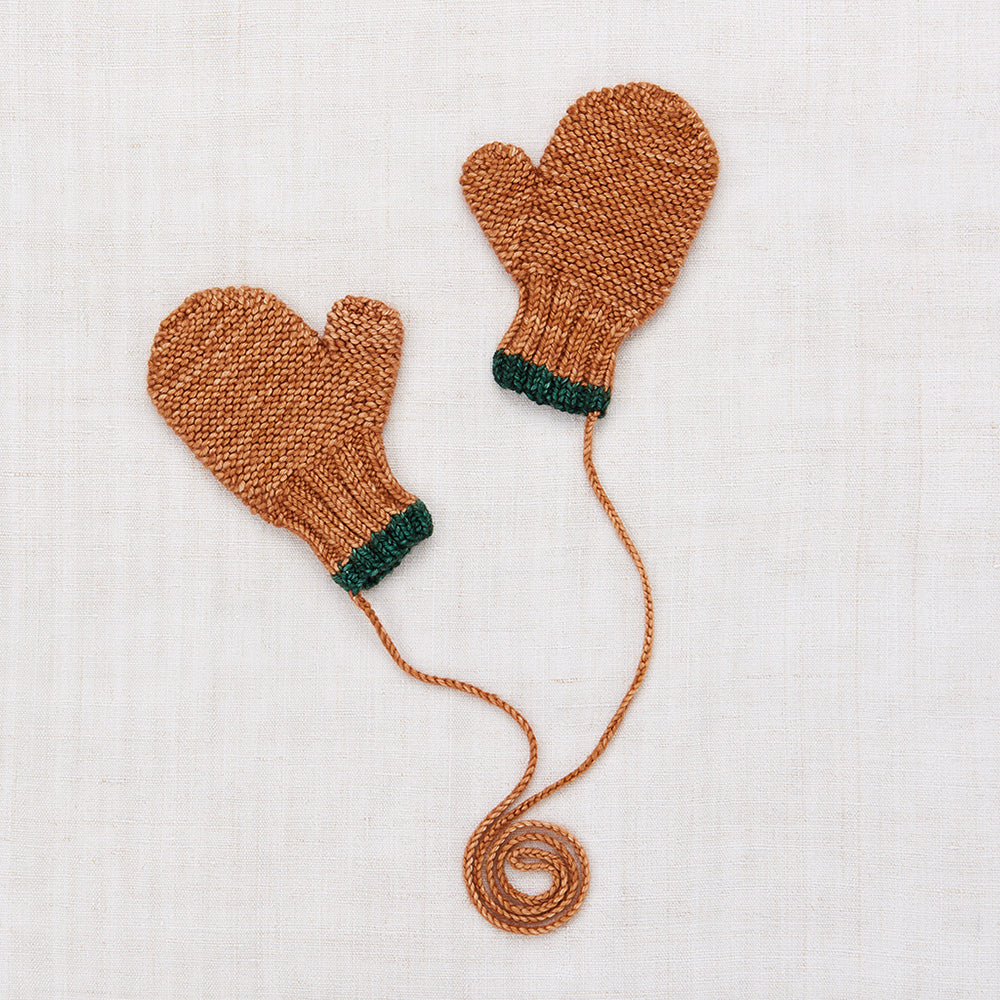 Hand Knit Merino Safe Harbor Mittens - Rose Gold