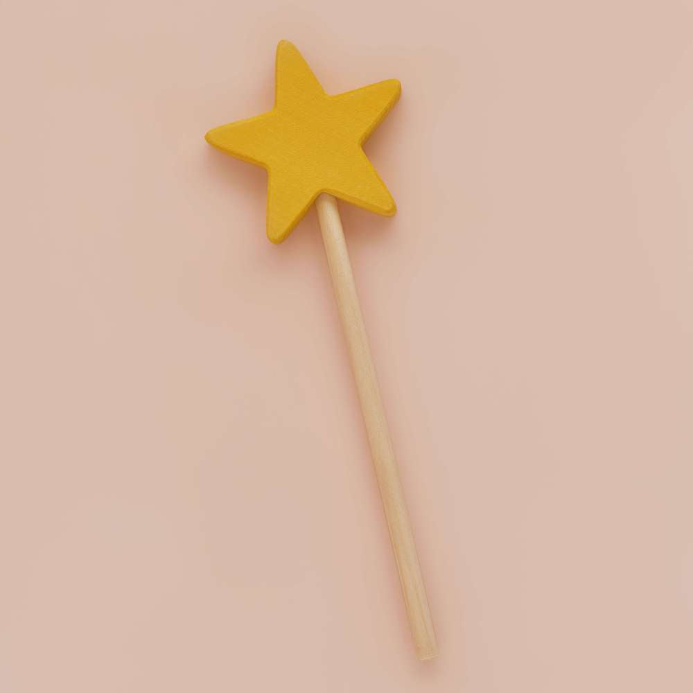 Magic Wand - Yellow Star