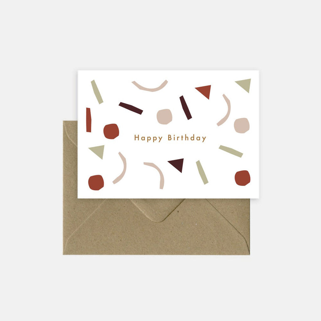 Michoucas Greeting Card Confetti Birthday