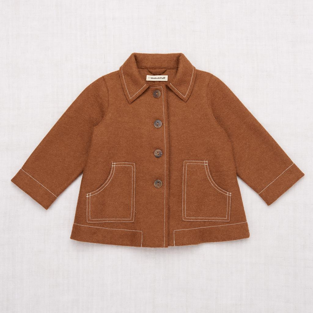 Misha and Puff Playhouse Coat - Dark Camel