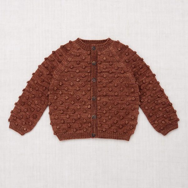 Misha and Puff Popcorn Cardigan - Chestnut