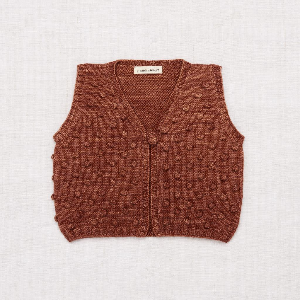 Misha and Puff Popcorn Vest - Chestnut