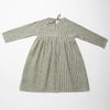 Nellie Quats Hopscotch Dress - Green Check Linen
