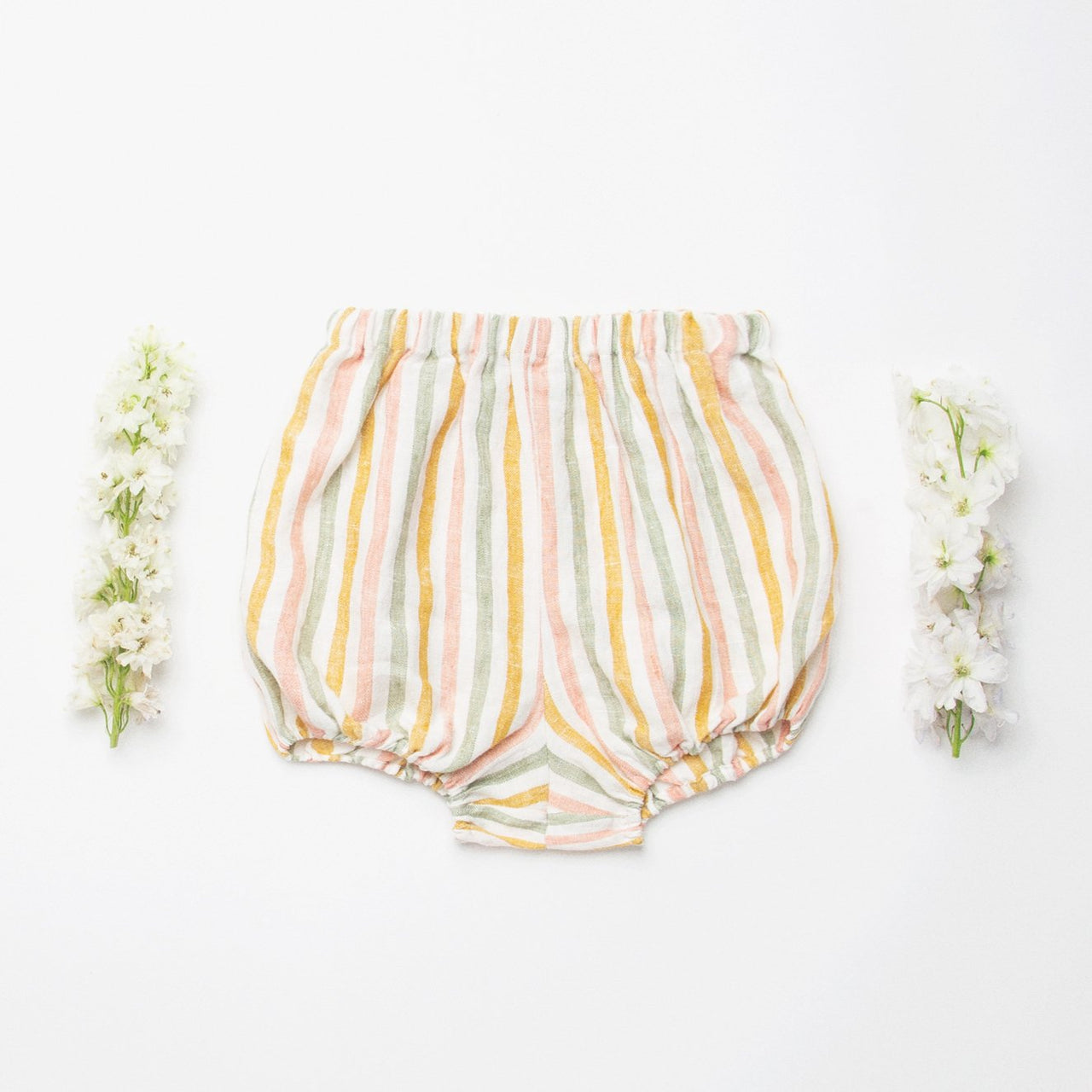 Nellie Quats Skipping Bloomers - Multi Stripe Linen