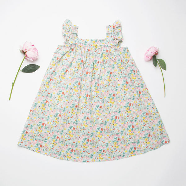 Nellie Quats Leap Frog Dress - California Bloom Liberty Print