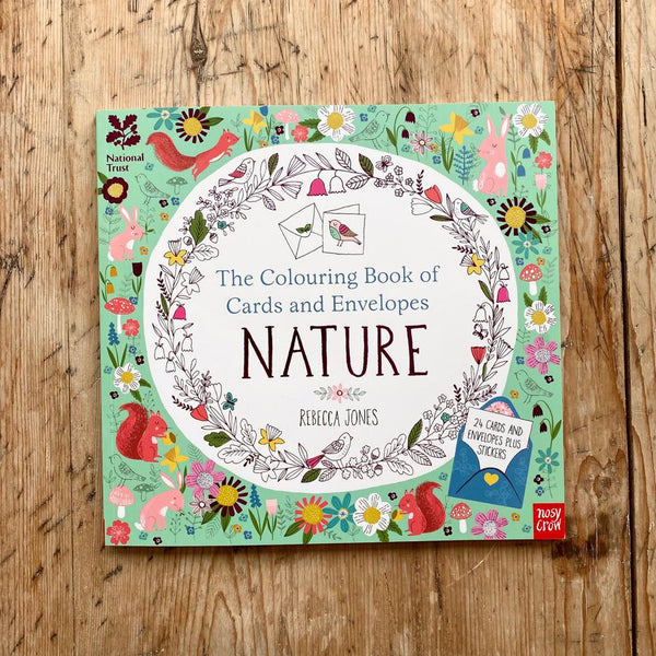 Nosy Crow The Colouring Book of Cards and Envelopes Nature