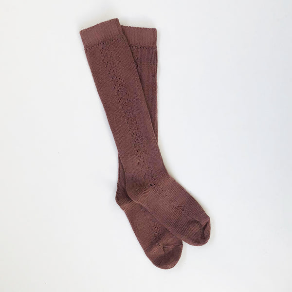 OPENWORK LONG SOCKS - PRALINE