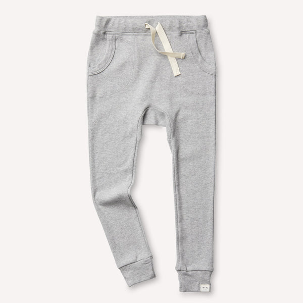 Organic Cotton Louie Slim Jogger Heather Grey