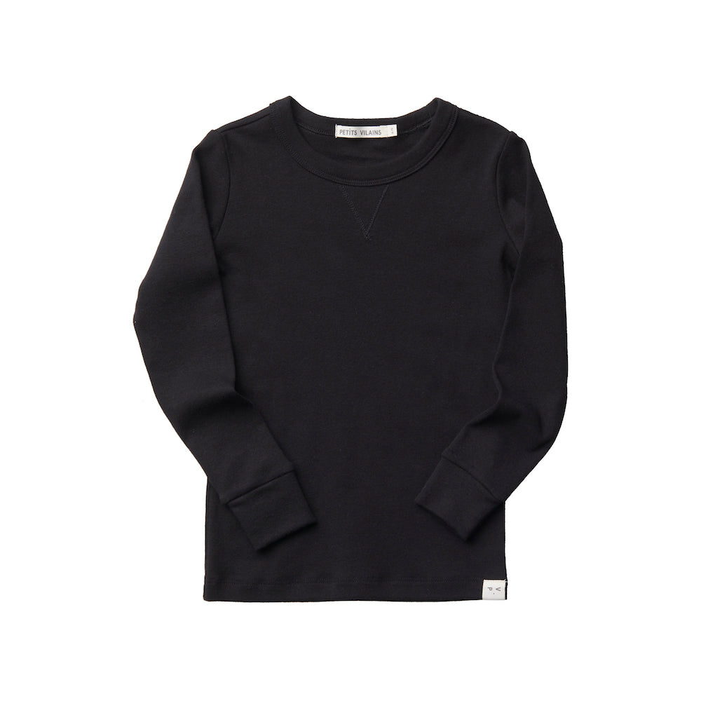 Organic Cotton Dominique Crew - Black