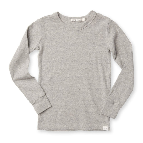 Organic Cotton Dominique Crew - Heather Grey