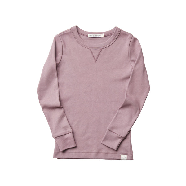 Organic Cotton Dominique Crew - Mauve