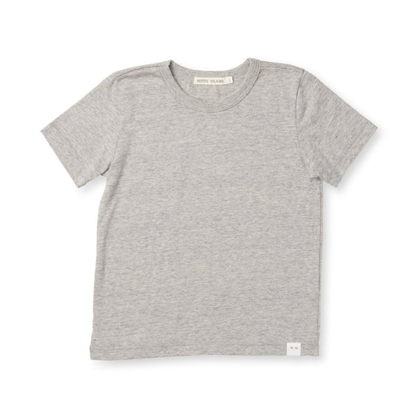 Organic Cotton Sasha Tee - Heather Grey