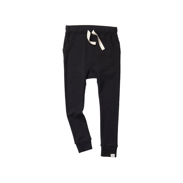 Organic Cotton Louie Pant - Black