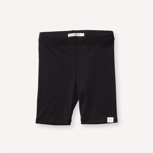 Petits Vilains Organic Cotton LAURE BIKE SHORT - Black