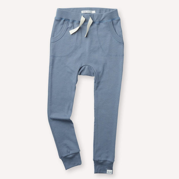 Petits Vilains Organic Cotton LOUIE SLIM JOGGER - Dusty Blue