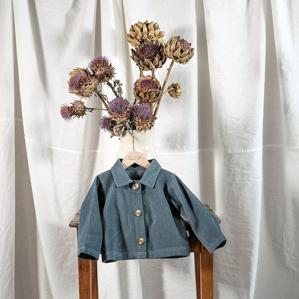 Poudre Organic Cotton Corduroy Jacket Pistache - Stormy Weather