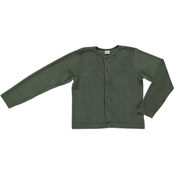 Poudre Organic Cotton Terry Cardigan Melisse - Forest Green
