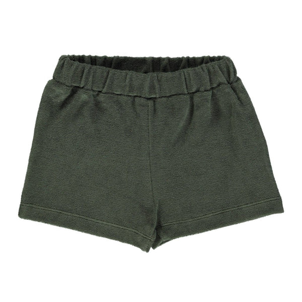 Poudre Organic Cotton Terry Short Oeillet - Forest Green