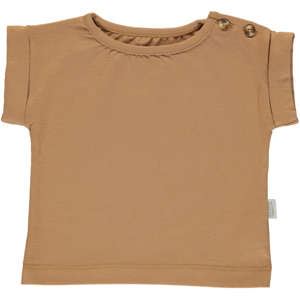 Poudre Organic Organic Cotton Tshirt bourrache - brown sugar