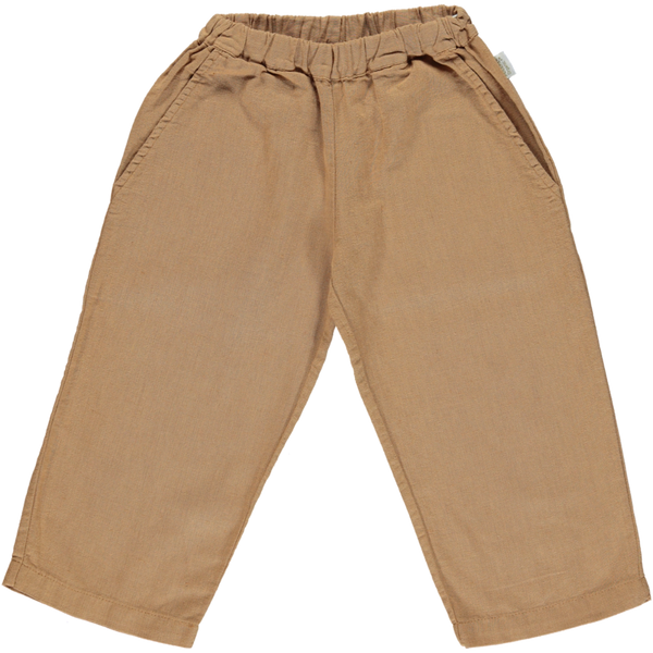 Poudre Organic Organic Linen/Cotton Trousers pomelos - brown sugar