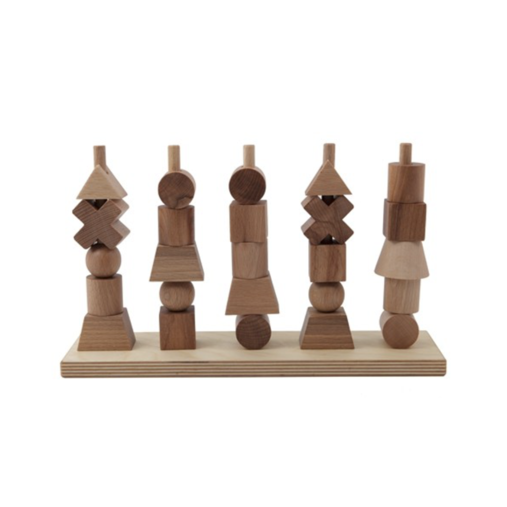 Wooden Stacking Toy - Natural