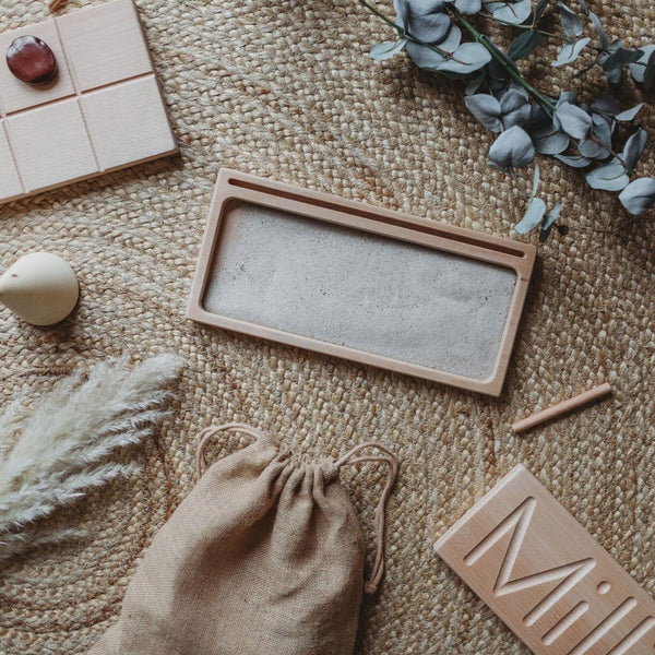 The Little Coach House Wooden Sand Writing Tray